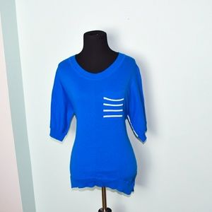 NWT Royal Blue Striped Pocket Top